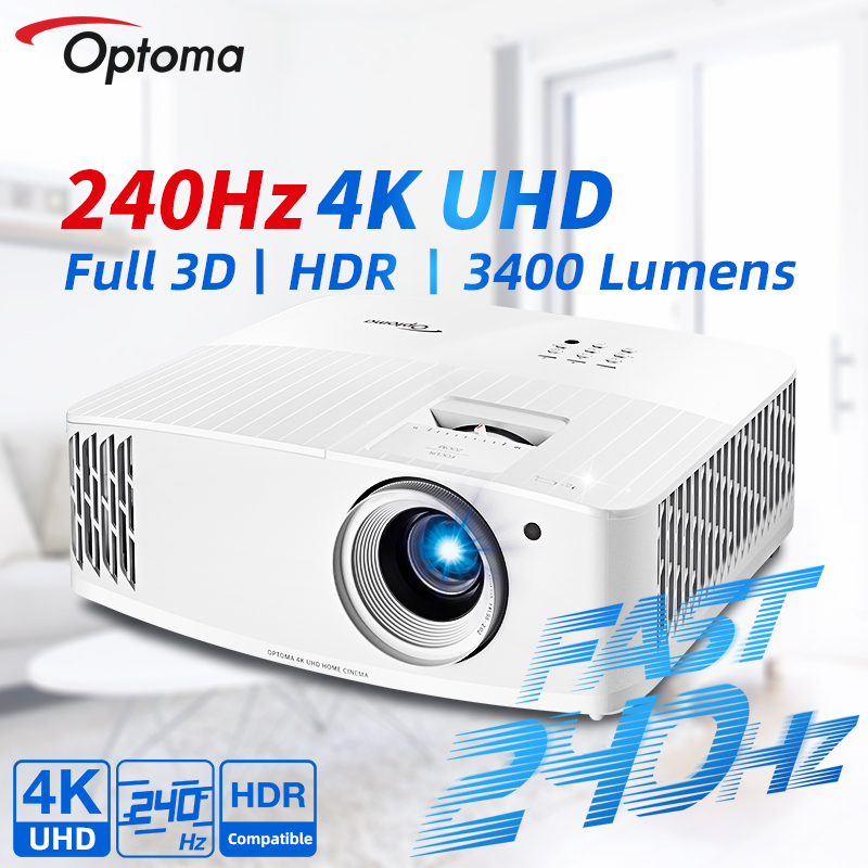 Optoma 4K проектор Родной UHD 240 Гц Частота обновления для игр смартфон 3D HDR Бимер Кино для дома Театр UHD508