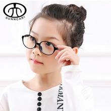 Dzieci okrągłe anty-niebieskie światło okulary dzieci elastyczne okulary TR90 ramki optyczne okulary korekcyjne dla dzieci dla dziewcząt chłopców tanie tanio Z tworzywa sztucznego Dziewczyny 5003 5-12 years old can be matched myopia glasses