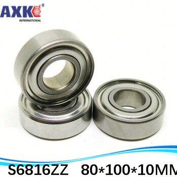 High quality stainless steel bearing SS6816ZZ S61816ZZ S61816Z 6816 S6816 S6816Z S6816ZZ 80*100*10 mm 440C material