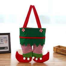 New Christmas Decoration Red Pants Candy Bag Elf Gift Restaurant Wine