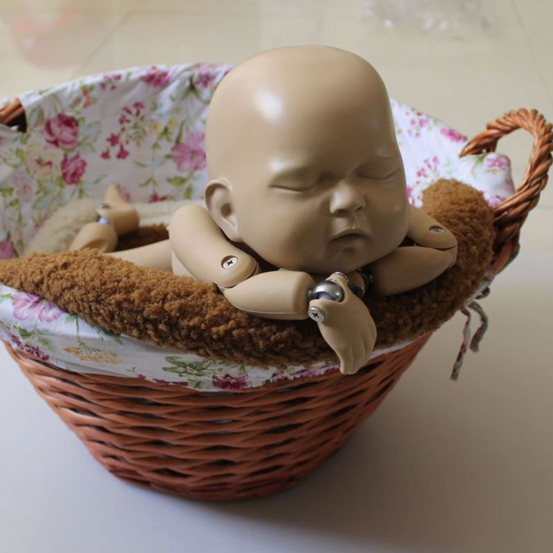 Newborns Photography Props Baby Posing Pillow Basket Plush Mat Toddler Photo Shooting Studio Infant Photoshoot Accessory