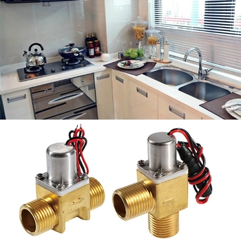 Energy-Saving Water Flow Pulse Solenoid Valves Bistable Water Control Brass for induction cleaner, prepaid water saving system image