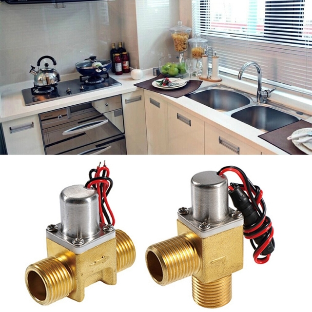 Energy-Saving Water Flow Pulse Solenoid Valves Bistable Water Control Brass for induction cleaner, prepaid water saving system