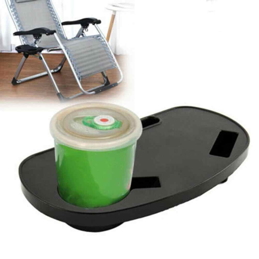 Folding Reclining Chair Drinks Food Cup Tray Holder Clip Side Table Garden  Lounger Camping Beach Outdoor furniture Plastic Tray