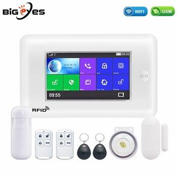 PG106 PGST WiFi GSM GRRS sistema de alarma inalámbrico WiFi, Kit de alarma de seguridad contra intrusos, aplicación de Control para teléfonos inteligentes Android e iOS