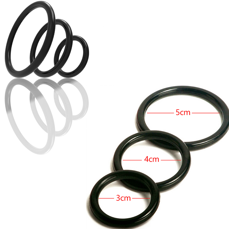 3Pcs Silicone Stretchy Penis Rings Cock Ring Adult Games Erotic Products Delay Male Chastity Sex Toys For Couples Sexual Harness