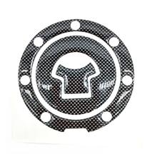 цена на Universal 1Pcs Motorcycle Carbon Fiber Fuel Gas Oil Cap Tank Pad Tankpad Protector Sticker For Honda Suzuki Kawasaki Yamaha