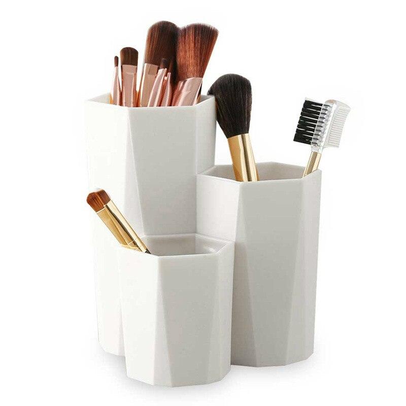 3Box Storage Lattices Cosmetic Make-up Brush Storage Box Table Organizer Make Up Nail Polish Cosmetic Holder Table Organizer