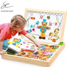 Деревянная магнитная головоломка рисунок/Животные/дом/растение доска для рисования 19 стилей коробка обучения и обучающая игрушка подарок для детей