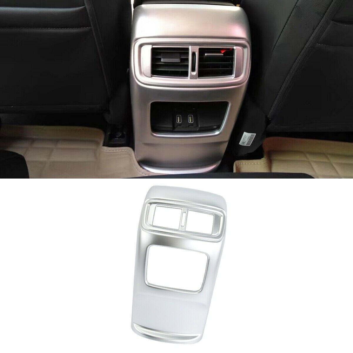 Chrome Center Console Air Condition Vent Cover Trim Fit Honda 2017 2018 CR-V CRV