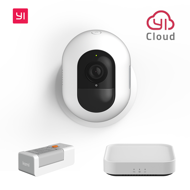 YI Kami 1080P Wireless Home Camera Kit Outdoor Battery Security Camera with IP65, Motion Detection, Night Vision