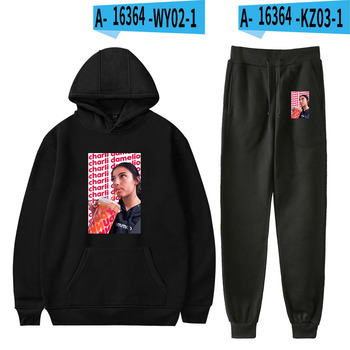 Nes Charli Damelio Merch Hoodie Womens Tracksuit Sweatpants Suit Charlie Damelio Shirt Trousers Sets Unisex Clothes Print Casual 26