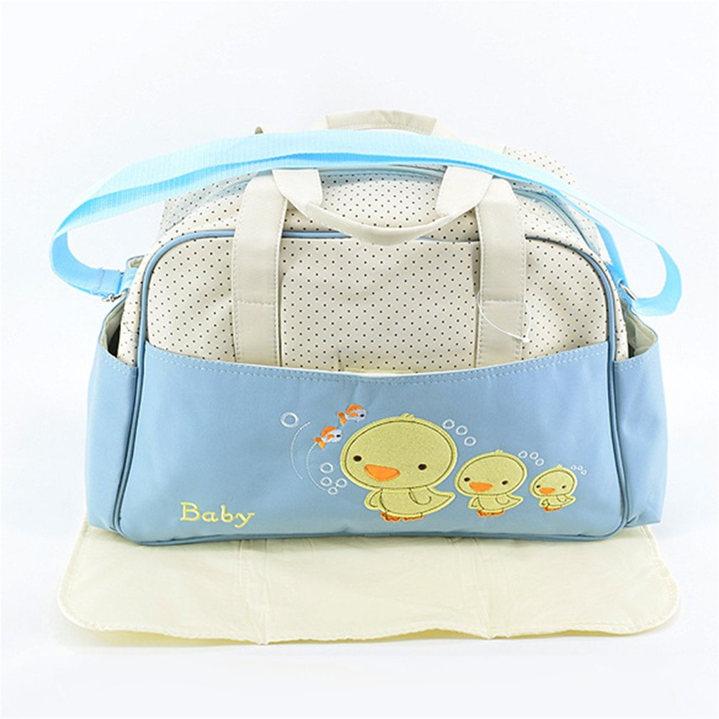 Large Capacity Mummy Bag Multifunctional Fashion Ducks Prints Inclined Shoulder Bag Handbag For Pregnant Women