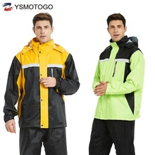NEW Motorcycle waterproof Raincoats Sets Bicycle Poncho Windcoat Jacket Windproof Bike Waterproof motorbike Outdoor rain suits