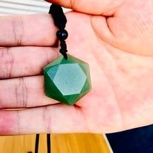 David-Necklaces Aventurine-Stone Star Amulet Pendant Jewelry Gift Judaism for Women New