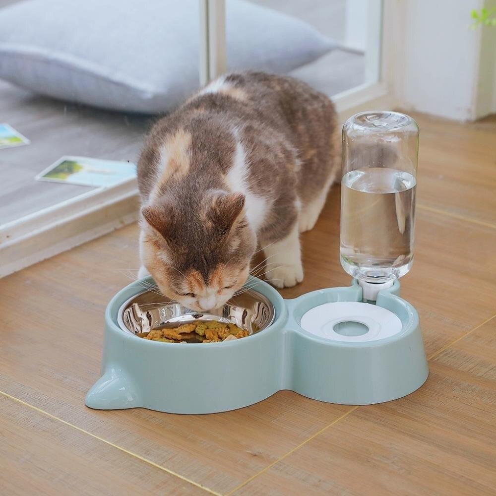 Contenitore automatico dell'erogatore dell'alimentatore dell'acqua dell'alimento della fontana della ciotola del cane del gatto dell'animale domestico per i cani dei gatti che bevono i prodotti dell'animale domestico vendita di alta qualità 1