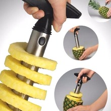 1pc Stainless Steel Easy To Use Pineapple Peeler Kitchen Accessories Slicers Fruit Cutter Corer Slicer Tools