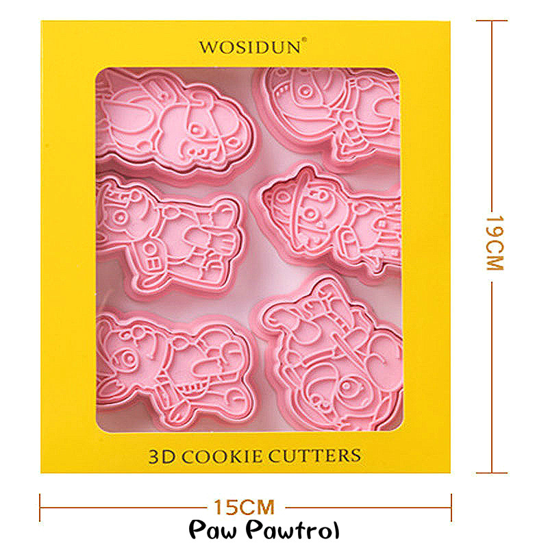 Paw Pawtrol Truest Cake Cookie Cutter Plastic DIY 3D Baking Mould Cookie Cutter Set Cartoon Biscuit Baking Tools Decoration Tool