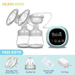 Электрический молокоотсос, перезаряжаемый молокоотсос для грудного вскармливания, легко носить с собой на открытом воздухе, с сенсорным ЖК...
