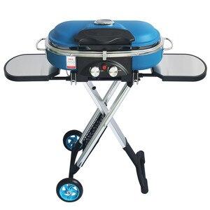 Image 1 - Zintegrowany przenośny wózek Grill odkryty Camping Grill kuchenka gazowa