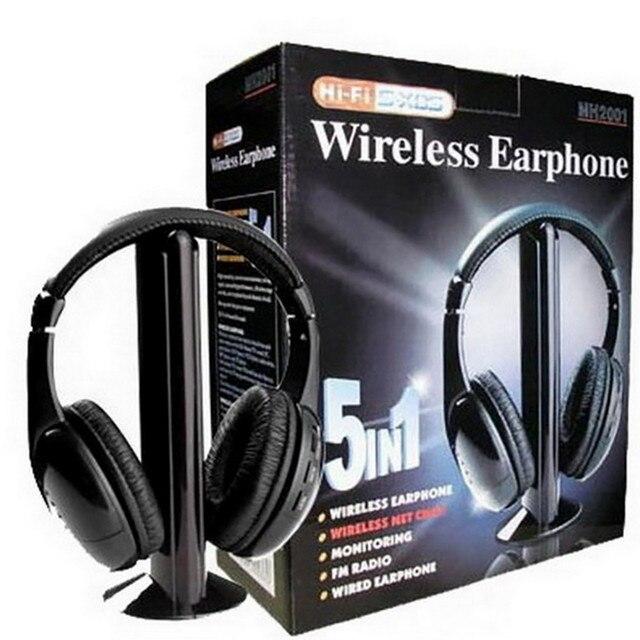 CARPRIE Wireless Earphones Wireless Bluetooth Headset Portable Cordless Headphone  with MIC for FM Radio PC Laptop TV FM MP3 2