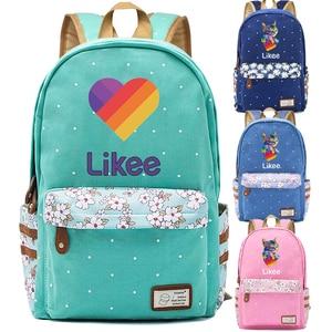 2020 New Likee Backpack LIKEE 1 (Like Video) Russia Style Floral Bookbag Harajuku Laptop School Bags for Teenage Girls Bag Pack