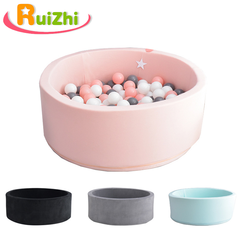 Ruizhi <font><b>Baby</b></font> Round Soft Game Playpen Ocean <font><b>Ball</b></font> <font><b>Pool</b></font> Pit Children Room Decor Kids Birthday Christmas Gift Kids Toys RZ1093 image