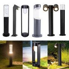 Водонепроницаемый садовый светильник для столба, уличная лампа для газона, алюминиевое освесветильник столба для виллы, двора, ландшафсвет...