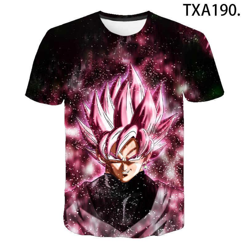 2020 nowy Dragon Ball Z Super Saiyan Vegeta T-shirt mężczyźni kobiety dzieci Anime dzieci Goku T shirt DBZ 3D wydrukowane bluzki chłopiec dziewczyna Tee