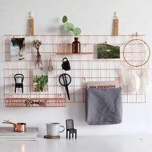 3 Pcs Lagerung Rack Wand Gitter Panel Korb Hängen Tasche Display Regal mit Haken Wand Veranstalter und Lagerung Regal für hause Supplie