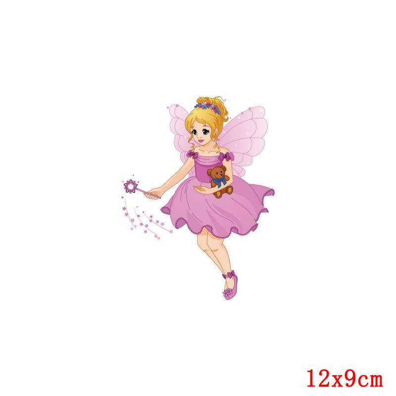 Prajna Красота Девушка глажка наклейки теплообмена винил патч термоутюг на передачу для одежды детская футболка Мультфильм аппликации - Цвет: Лимонно-желтый
