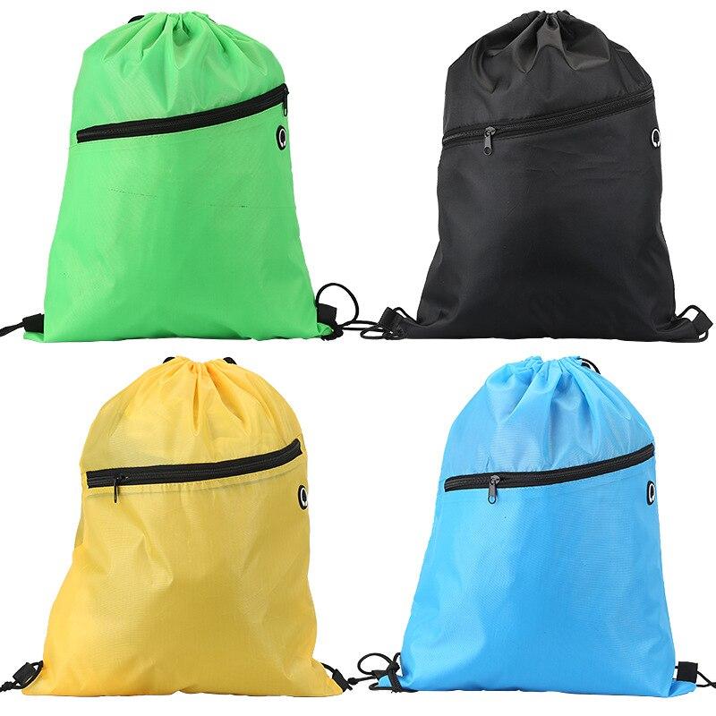 Lock Rope Bag Waterproof Nylon Closed Mouth Basketball Bag Polyester Backpack Football Drawstring Bag Sports Outdoor