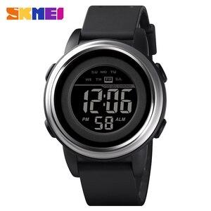 Image 1 - Skmei relógio digital à prova dled água led esporte militar dos homens relógios topo de luxo marca moda relógio de pulso masculino relogio masculino