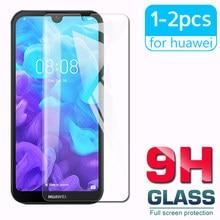 1-2 pces hd vidro protetor para huawei y5 2019 y6 pro 2019 proteção de tela à prova de explosão para hayei y6 prime 2019 y5 fim