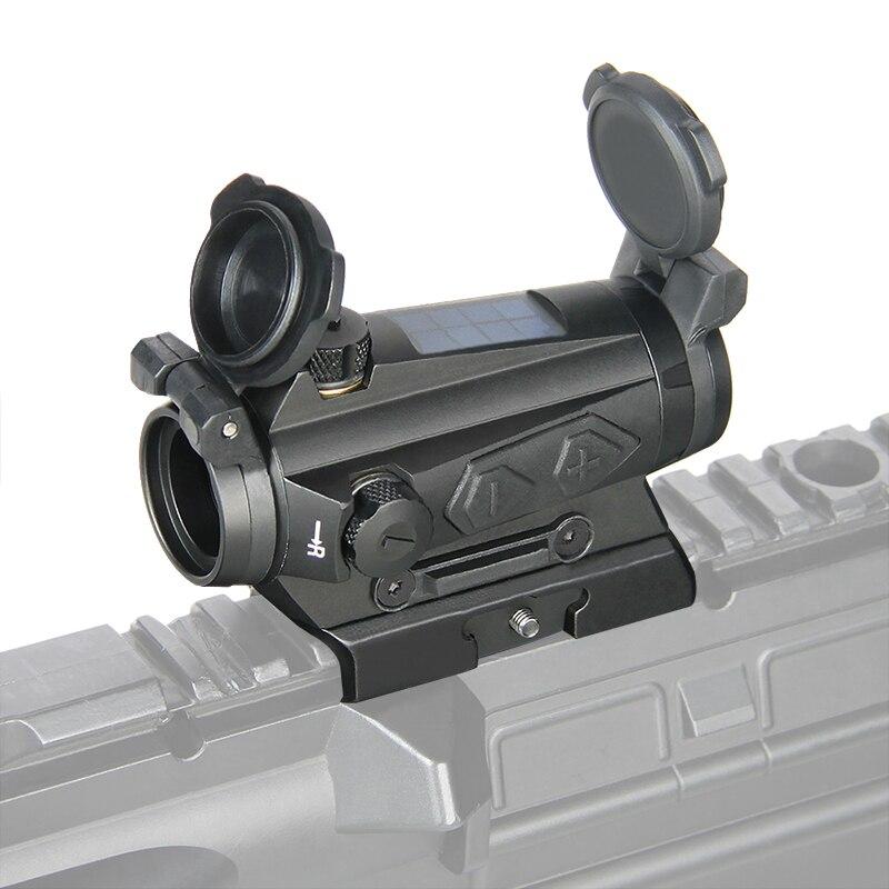 PPT1x20mm kolimator red dot luneta optyka myśliwska 1x Reflex energia słoneczna 2MOA 65MOA Tactical Scope Rail Picatinny Rail PP2-0126