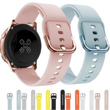18mm 20mm 22mm Silicone Strap For Samsung Galaxy watch 46 42mm Gear S3 Active2 Active1 Huawei watch strap Amazfit BIP Wristband