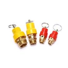 Sicherheit Ventil Frühling Typ Vent Ventile Gewinde Anschluss Druck Rohr Luft Kompressor Rot/Gelb Hut Messing Pneumatische Teile