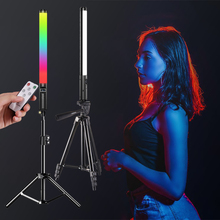 RGB Light Stick Wand With Tripod Stand Party Colorful LED Lamp Fill Light Handheld Flash Speedlight Photography Lighting Video