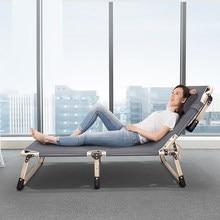 Cadeira dobrável da mobília de casa da cama dobrável com encosto escritório simples cadeiras da cama do terraço da cama cadeiras da plataforma da varanda extra-larga 75cm