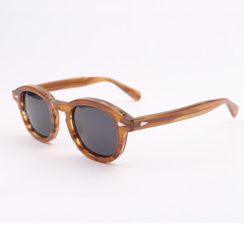 Fashion Polarized Sunglasses Man Band Design Johnny Depp Eyeglasses Woman High Quality Vintage Acetate Glasses Frame 012-2