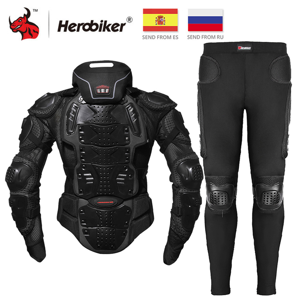 HEROBIKER Motorcycle Jacket Men Motorcycle Armor Full Body Motocross Racing Protective Gear Moto Protection S-5XL