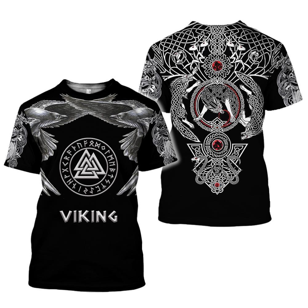 Брендовая одежда viking с принтом имитирующим тату принт 3d