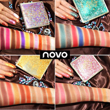 NOVO 12 Colors Flowing Sand Fantasy Makeup Eye Shadow Palette Unique Design Earth Waterproof Shinning Matte Shimmer Eyeshadow