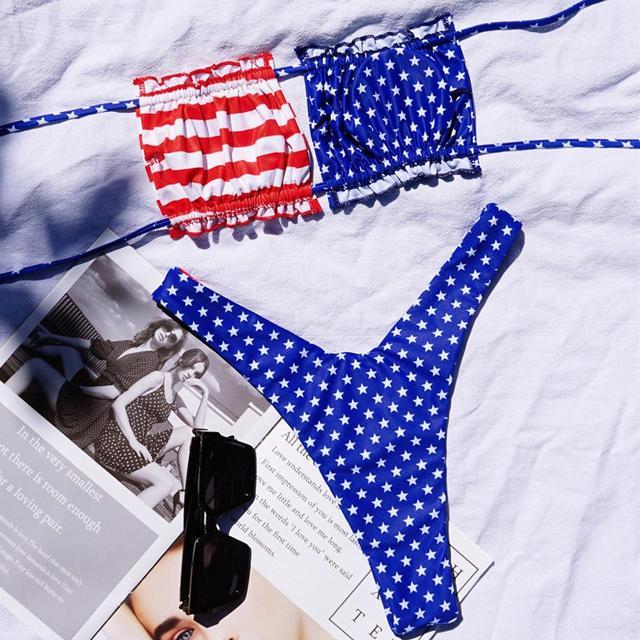 American National Flag Bikinis Set 4