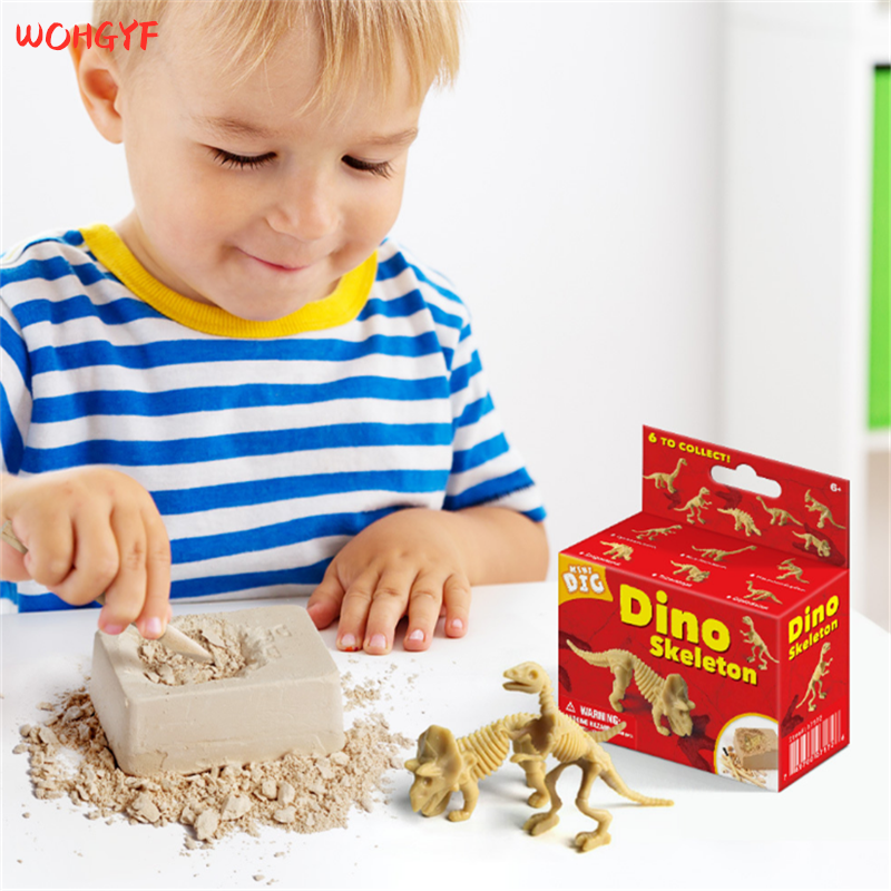Educational Dinosaur Fossil Excavation Toys  Archaeological Dig Toy DIY Assembly Model Toys For Children Kids Toy Dinosaur