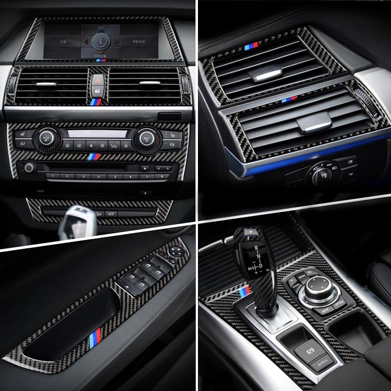Car Inner Door Audio Speaker Gearshift Panel Door Armrest Reading Light Cover Trim Car Sticker for BMW X5 X6 E70 E71 Accessories
