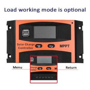 Image 2 - Contrôleur de Charge solaire USB LCD affichage 12V/24V 30A 40A 50A 60A Auto solaire panneau chargeur régulateur batterie au Lithium bricolage