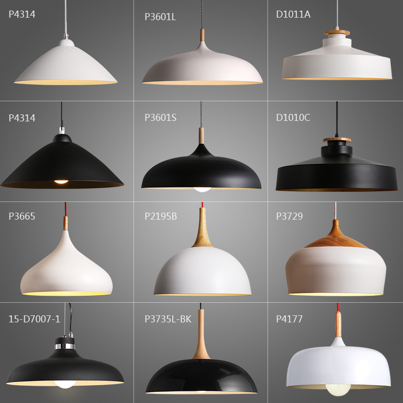 Japan Luminaria Hanglamp Iron  Restaurant  Home Decoration E27 Light Fixture Luminaria Pendente