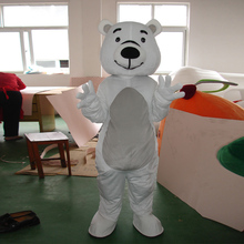 Cartoon white bear costume Halloween ball mascot