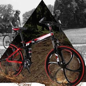 "Image 5 - Wolf fang mountainbike 21speed 26 ""zoll faltrad rennrad unisex volle stoßfest rahmen fahrrad front und hinten mechaniker"